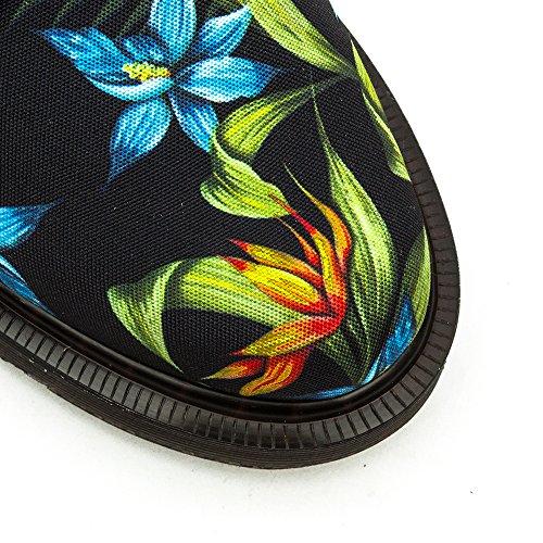 Negro Lester Black Floral Hawaiian Martens Dr Canvas xYw5qBcH
