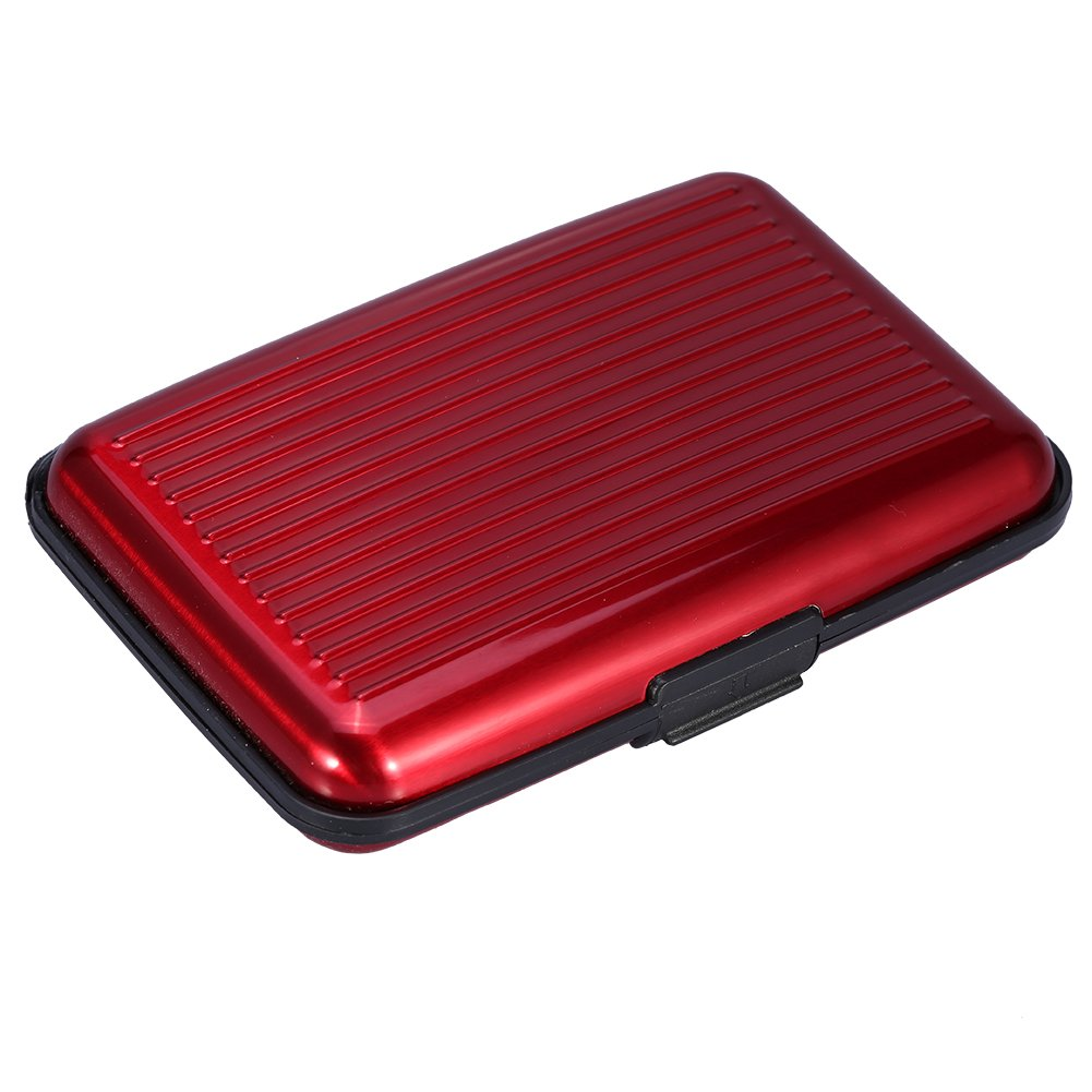 Mengshen RFID Blocking Card Wallet/Case/ Holder, Credit Cards Protector During Travel or Business, PX07 Red