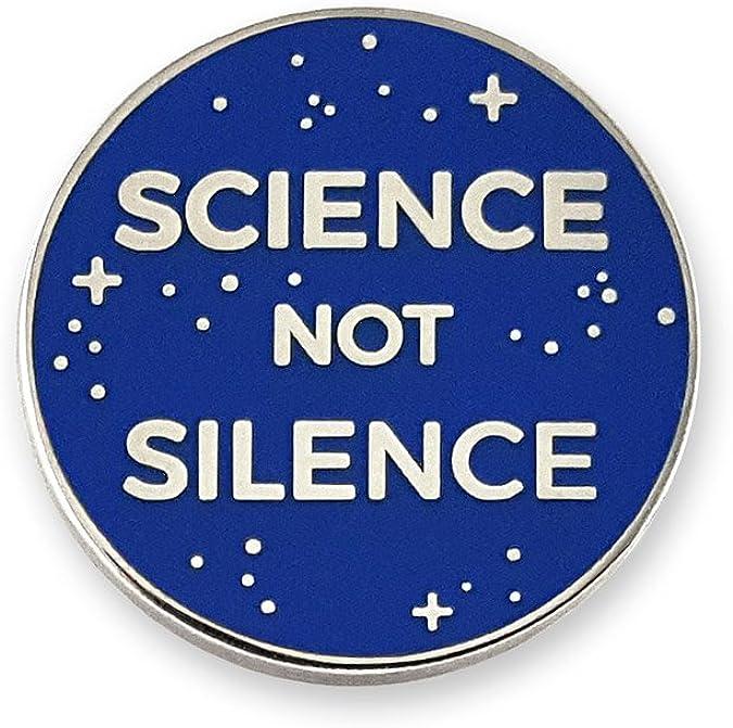 Amazon.com: Pinsanity Science Not Silence Enamel Lapel Pin: Jewelry