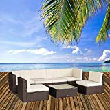 U-max 7 Piece 3-14 Pieces Patio PE Rattan Wicker Sofa Set Sectional Furniture (BR-7 Pieces)