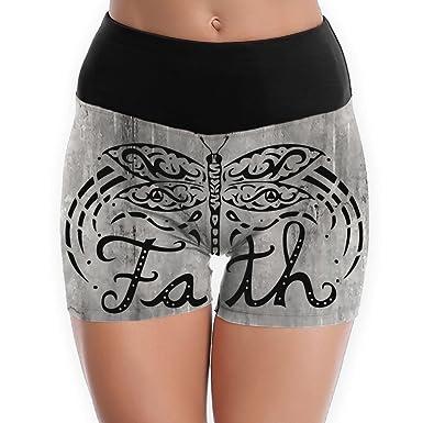 Amazon.com: HOLF SHORT Faith Dragonfly Yoga Shorts for Women ...