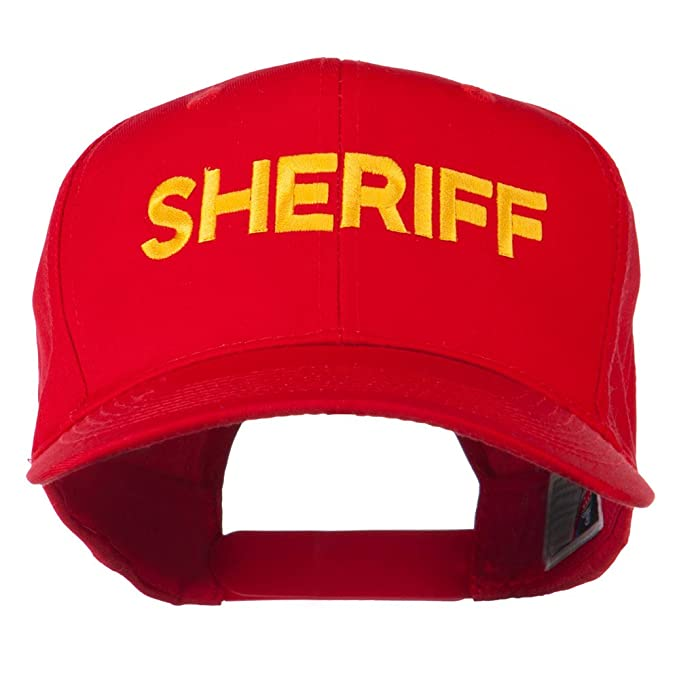 9ba3e9be272 Sheriff Letter Embroidered High Profile Cap - Red OSFM at Amazon ...