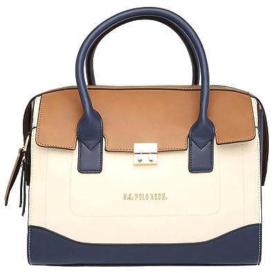 5625db507c U.S. Polo Assn. Womens Zipper Closure Satchel Handbag (203978372_Beige)