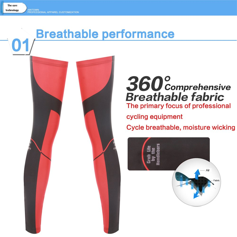 Rotibox Unisex Compression Fit Leg Warmers Sleeves Leg Cooler Cooling Sleeves UV Sun Protection for Men Women Outdoor Sports Cycling Basketball Football Hiking Climbing Running Jogging 1 Pair