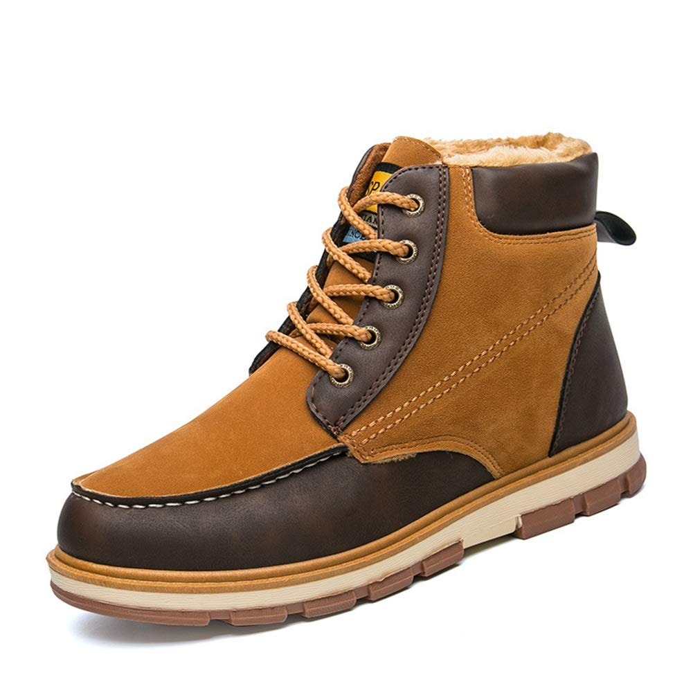 Männer Schuhe Herren Stiefel, Herbst Winter Herren Freizeitschuhe hoch, um Schuhe Trend Martin Stiefel warme Herren Stiefel Größe zu helfen Herrenmode Stiefel (Farbe   D, Größe   41)