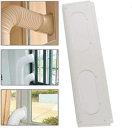 Ecisi Kit de ventilación de CA de Doble Orificio, Kit de Sello de Aire Acondicionado móvil