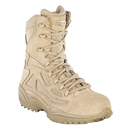 RB8894-65W - 8H Men's Military Boots Composite Toe Type Leather Mesh Upper Material Desert Tan Size 6-1/2