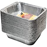 30 Pack - Disposable Aluminum Oblong Foil Steam Table Pans, Full Size Deep, Heavy Duty Roaster Pans - 12 4/5 x 10 1/5 x 2 3/5 Inches
