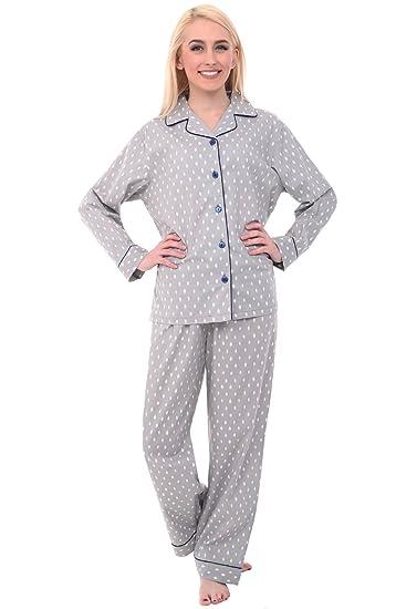 384f8061f7 Alexander Del Rossa Womens Cotton Pajamas, Long Woven Pj Set, 2X Grey with  Diamond Shapes (A0517V522X) at Amazon Women's Clothing store: