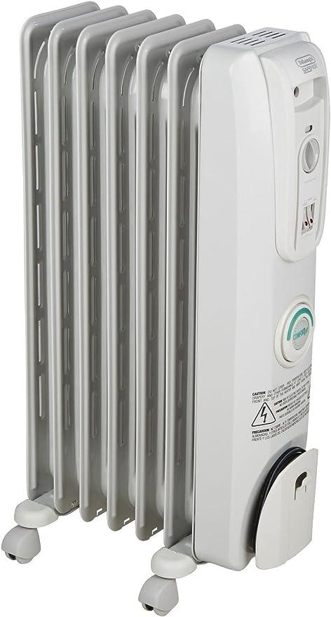 Amazon Com Delonghi Oil Filled Radiator Space Heater Quiet 1500w