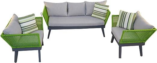 Jet-line Cuba - Juego de muebles de jardín, color verde: Amazon.es: Jardín