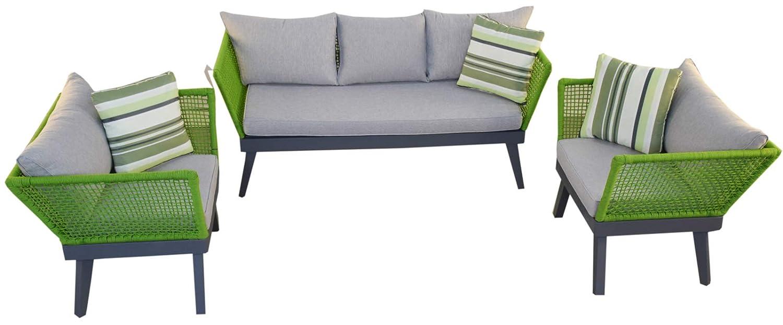 Jet-Line - Juego de Muebles de jardín Cuba, Color Verde ...