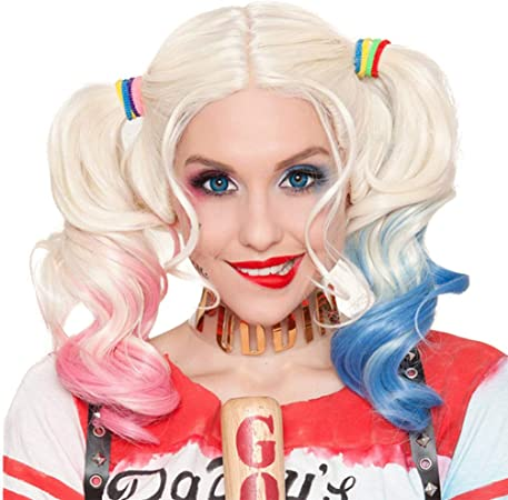 Harley Quinn Suicide Squad Silver con Pink & Blue Pigtails para ...