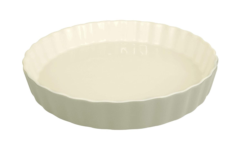LE REGALO HW1225 Stoneware Round Baking Dish, 10.5x10.5x1.5 White