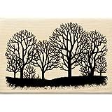Inkadinkado Fall Trees Silhouette Wood Stamp