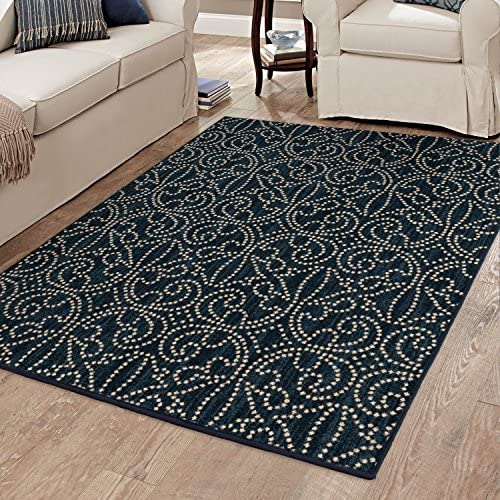 United Weavers of America Genesis Collection Dream Catcher Heavyweight Heat Set Olefin Rug, 7-Feet 10-Inch by 10-Feet 6-Inch, Lodge