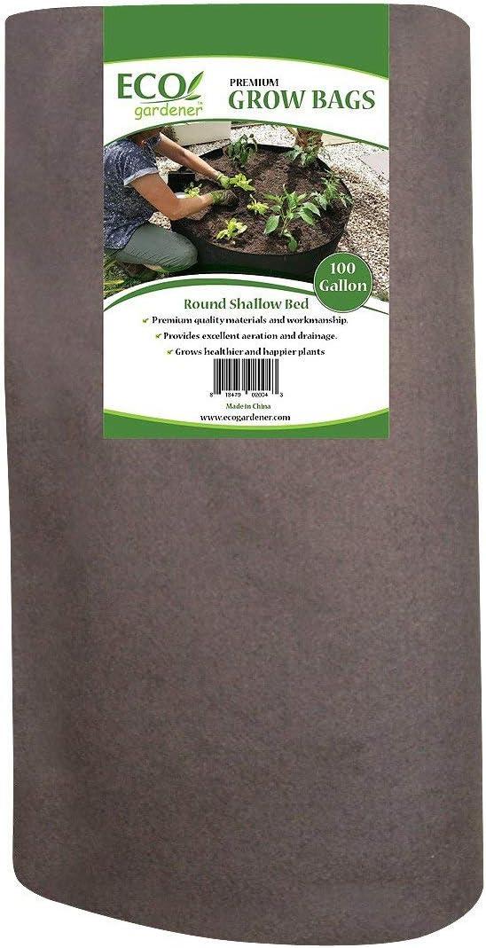 ECOgardener Raised Bed Fabric Planter Grow Bags 100 Gallon Deep Bed