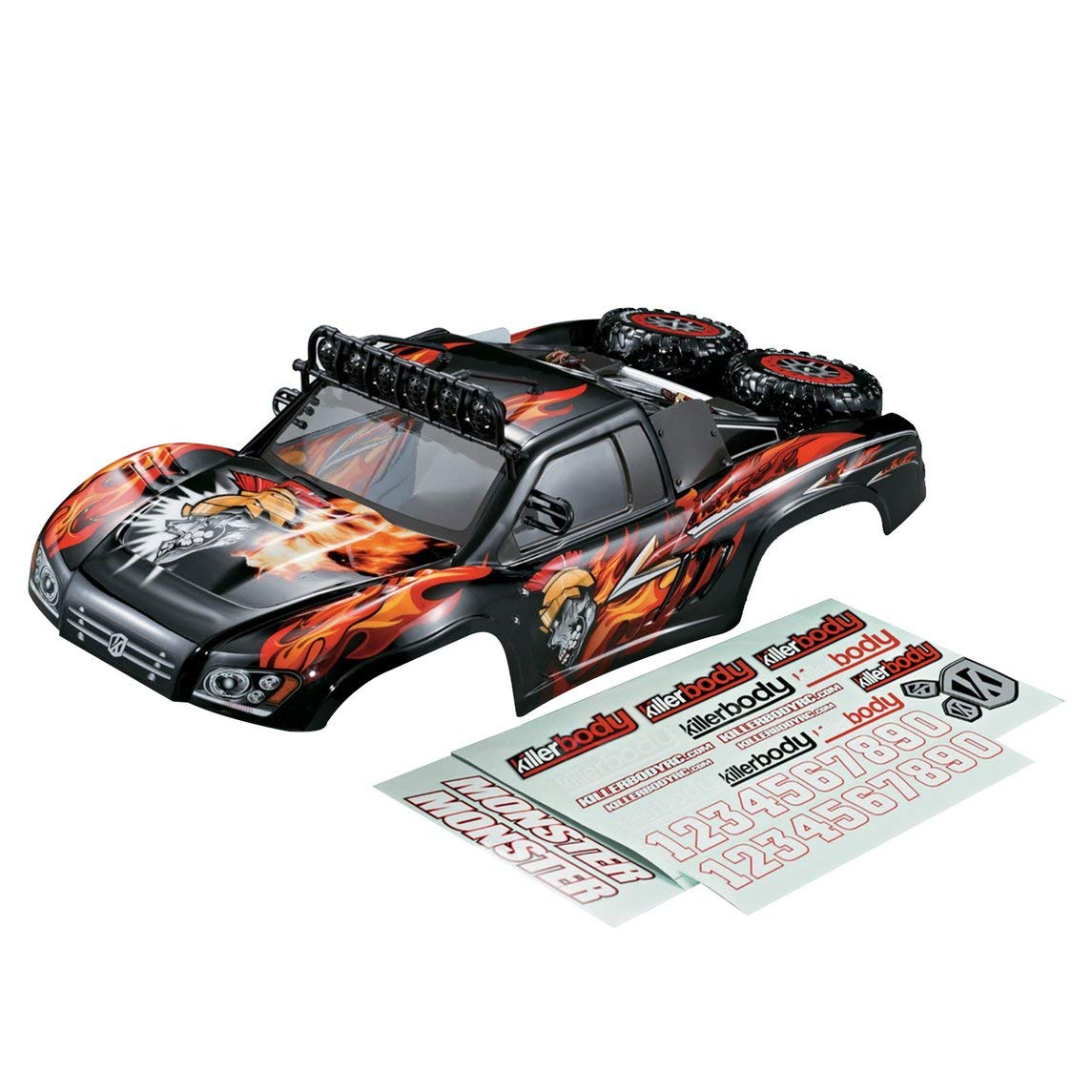 urjipstore Killerbody Short Course Truck Monster RC Car Body Shell Frame Kit for 1/10 Electric Touring Car RC Racing Car Shell DIY Parts