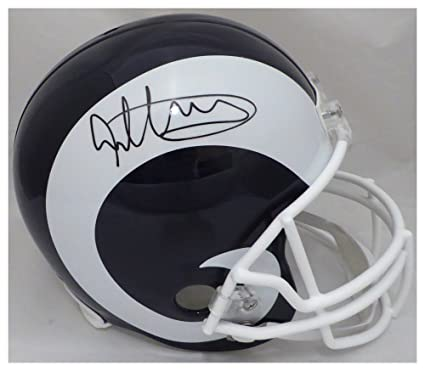 249afd856 Todd Gurley Autographed Signed Los Angeles Rams White   Blue Full Size  Replica Helmet - Beckett