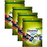 Ziminta Pan Masala Flavor Sugar Free Mint Mouth Freshener Easily Soluble Digestive Dispensable Strip - 30 Strips - Pack of 4