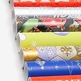 10 Rollos Papel de Regalo Navidad