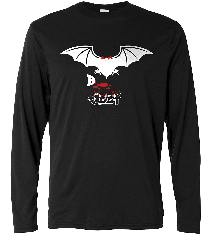 Long Sleeve 100/% Cotone Rock Metal Band LaMAGLIERIA T-Shirt a Manica Lunga Uomo Ozzy Osbourne Bat T-Shirt