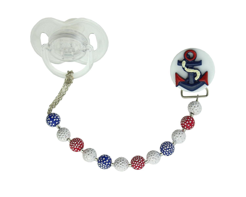 Perlas de Cristal sueño elegante azul rojo y blanco Anchor ...