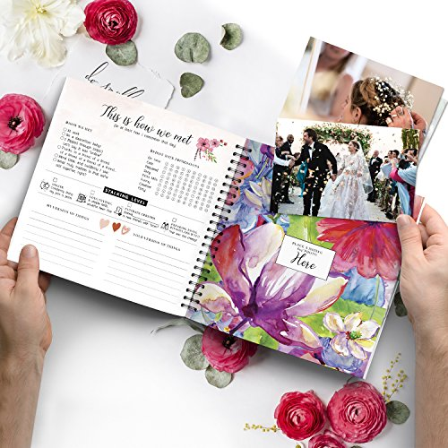 Pillow & Toast Our 1st Wedding Anniversary Journal: Memory Book & Photo Album Couples. Fill in Diary Proposal, Wedding Day Milestones. Bride Gift Ideas 2018! by Pillow & Toast (Image #2)