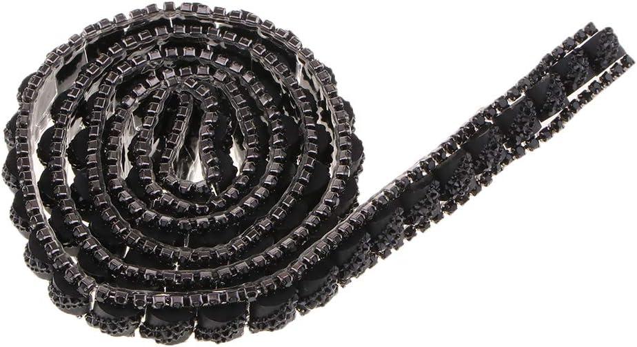 Baoblaze Strassborte Strassband Strasskette zum Aufb/ügeln f/ür Schmuck Handwerk DIY Kleidung Lila 1 Yard 10mm