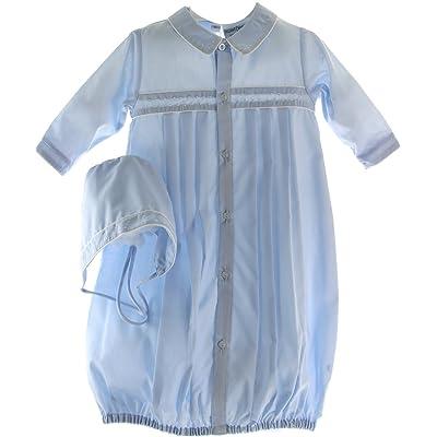 Baby Boys Blue Take Home Gown & Bonnet Layette (Preemie)