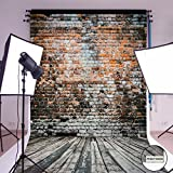 Mohoo 5X7ft Cotton Polyster Photography Background brick wall Photography backdrop Collapsible and Washable Studio Prop Background (Updated Materia)No Wrinkle