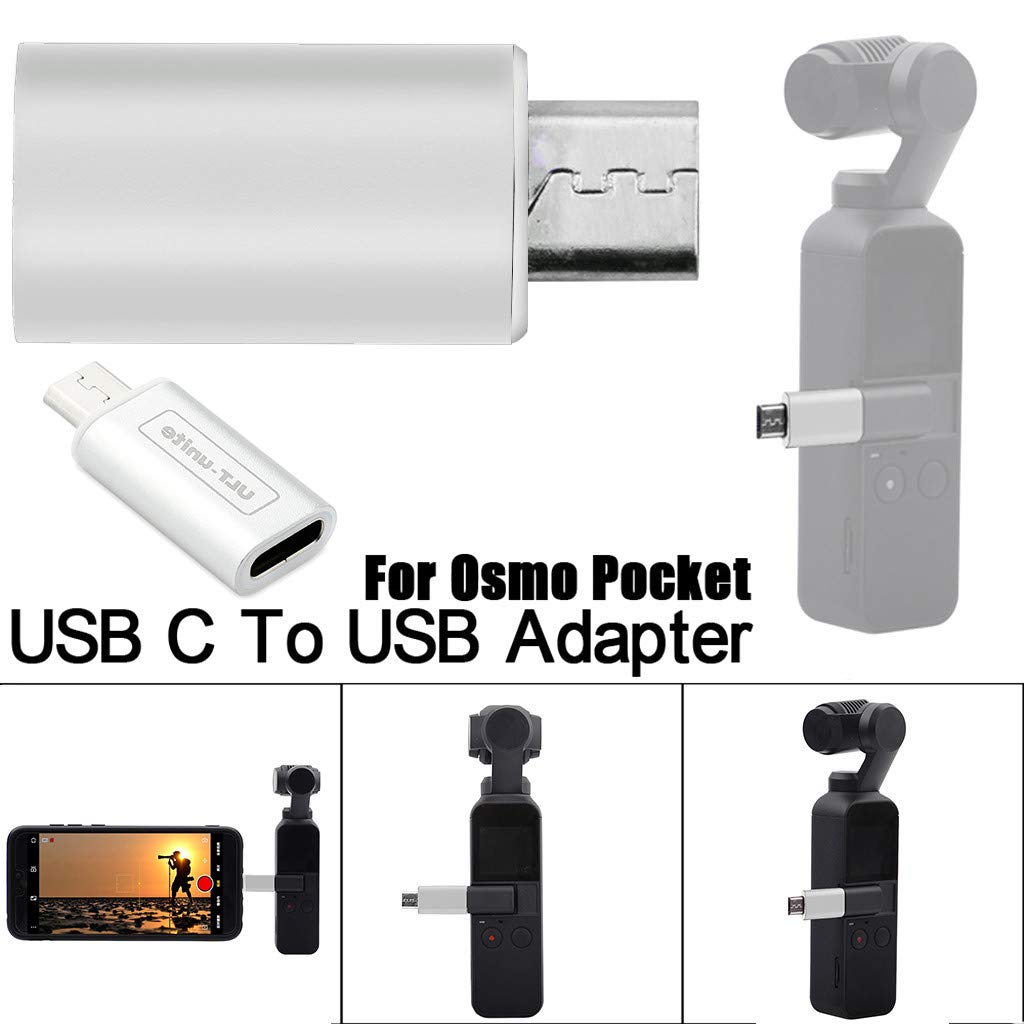 Chartsea Replacement Type C USB C To Micro USB Adapter Fast Adapter for DJI Osmo Pocket (White)
