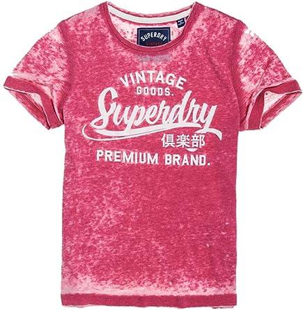 Superdry Vintage Goods Entry TE Camiseta, Rojo (Burnt Red Burnout L2p), 42 EU para Mujer: Amazon.es: Ropa y accesorios