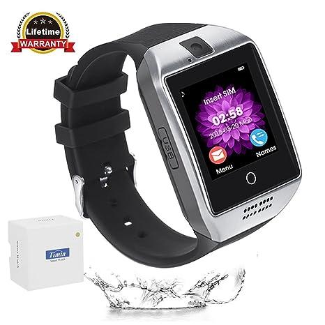 Reloj inteligente, CulturesIn Pantalla táctil Bluetooth Smartwatches Soporte SIM / TF Card Cámara Podómetro Dormir