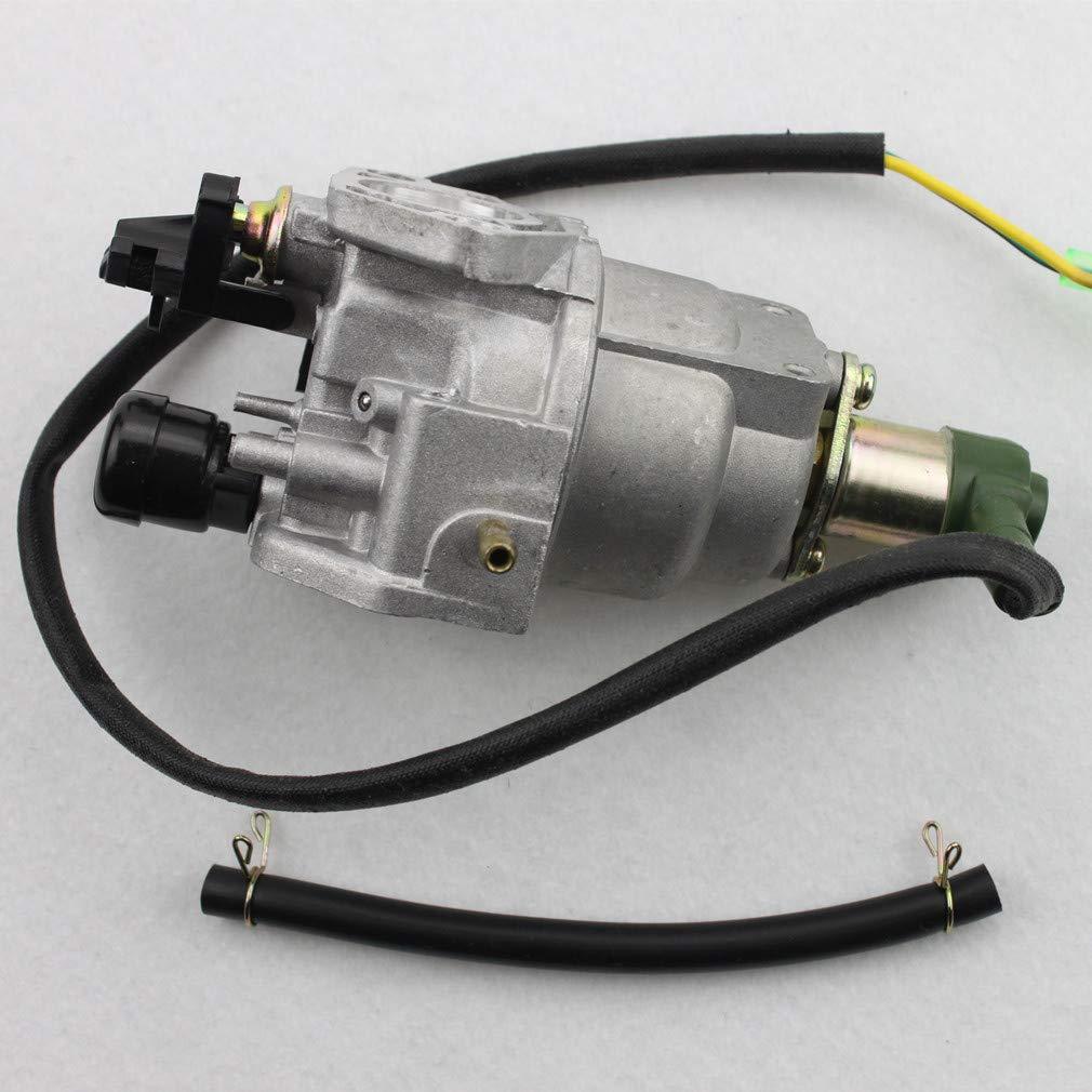 GOOFIT Carburador 19 Dellorto, PZ19 Moto para 4 Tiempos GX270 GX390 EB6500X EB7000I EM5000SX EM7000IS 13HP Chino 182F 188F Generador Motor Plata: Amazon.es: ...