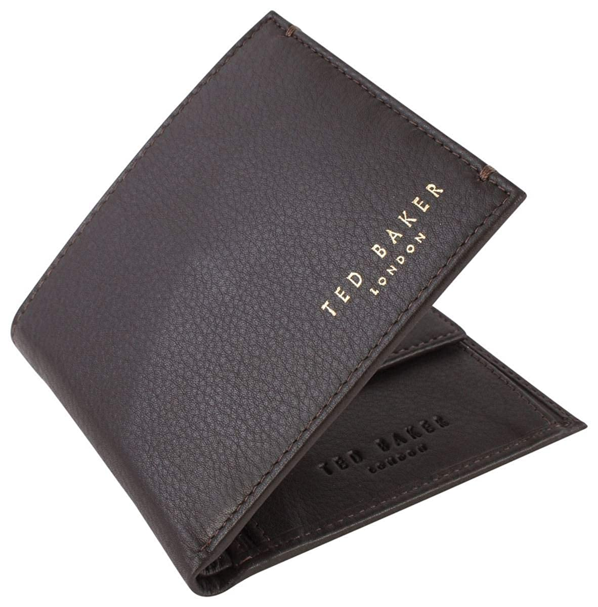 Ted Baker Harvys Mens Leather Bifold Wallet with coin Pocket