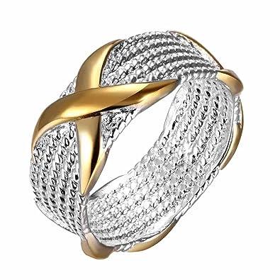 Mes-Bijoux-Bracelets Bague Anneaux Multiples Doré Or Jaune 750 000 18ct  Cadeau 557416ec6ad3