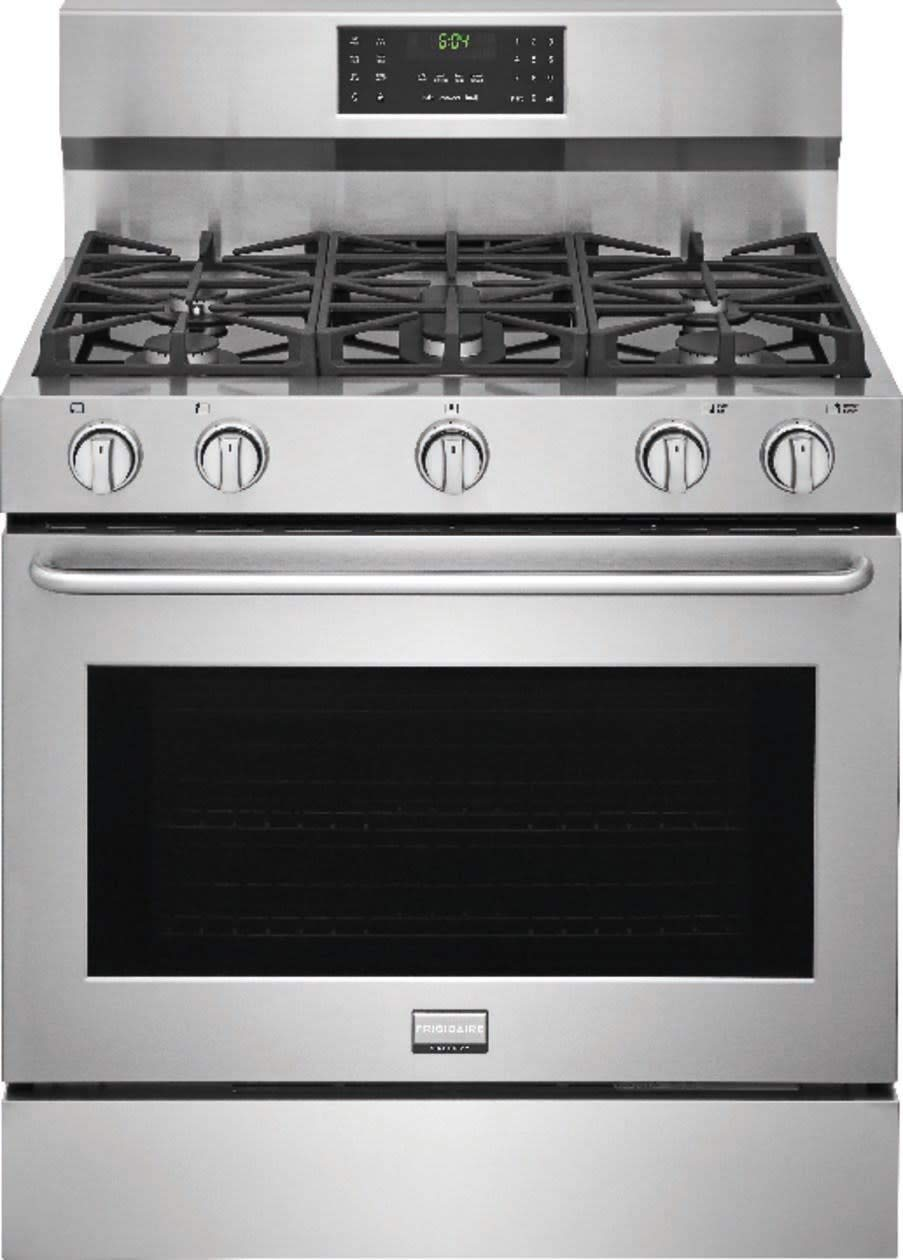 36 Gas Range >> Frigidaire Fggf3685ts 36 Gallery Series Freestanding Gas Range With 5 Sealed Burners In Stainless Steel