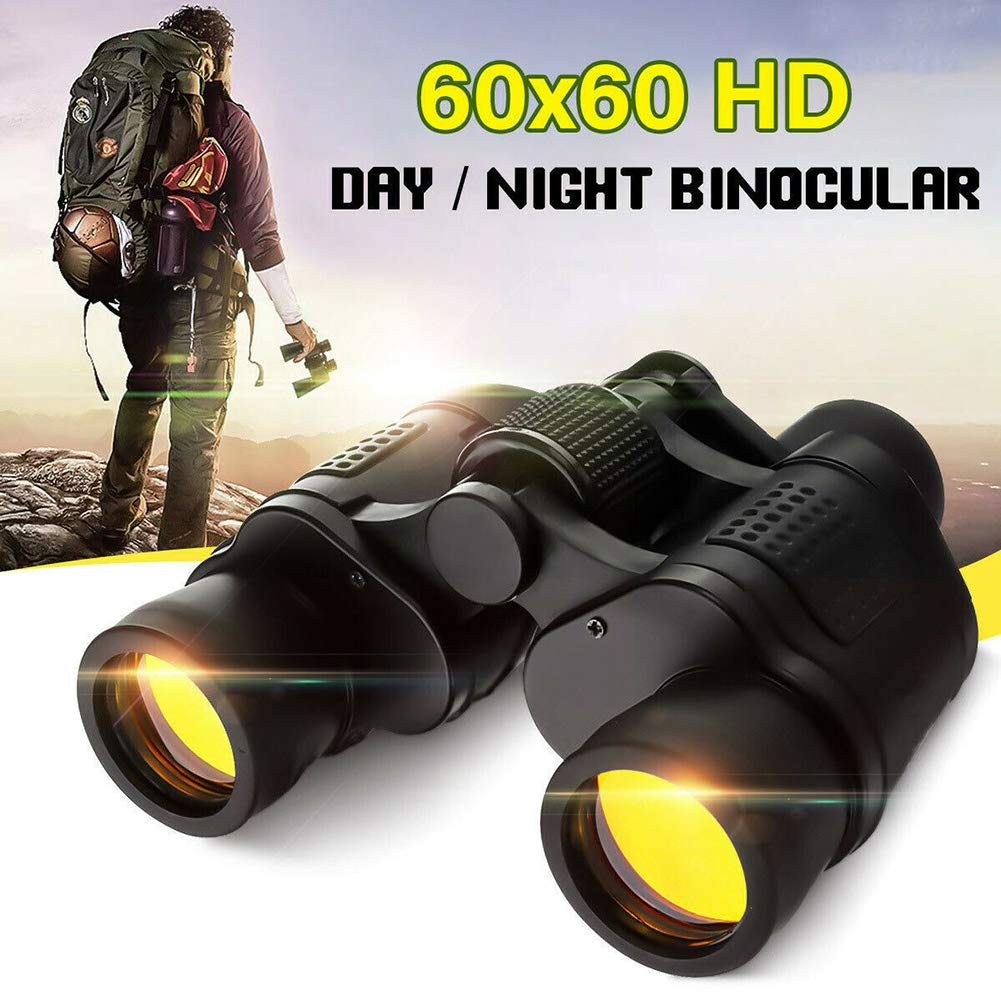 eroute66 60x60 Day Night Vision Foldable 3000M Hunting Camping Clear Binoculars Telescope Black by eroute66