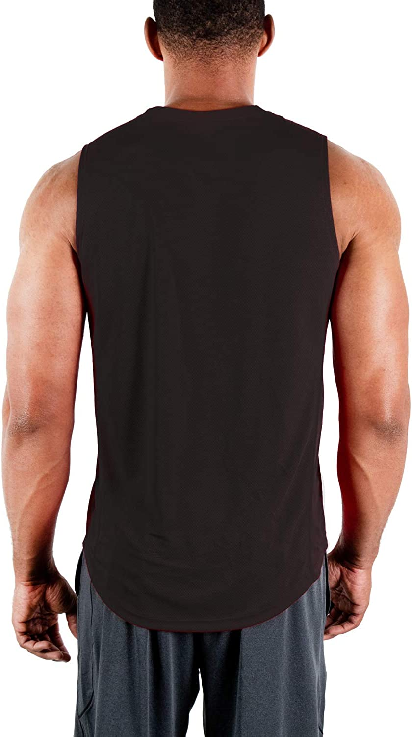 DEVOPS 3 Pack Men's Muscle Shirts Sleeveless Dri Fit Gym Workout Tank Top: Clothing