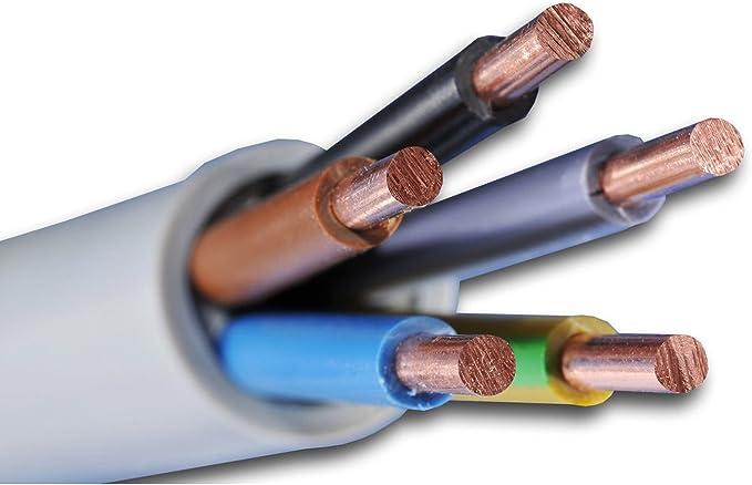 Nym J 5x4 Mm Preis Je Meter Kabel Installationsleitung Kunststoff Mantelleitung Baumarkt