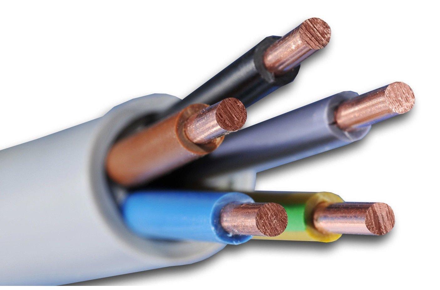 Meterware NYY-J 5x10 mm² Profiqualität Erdkabel Starkstromkabel 5,24€//m