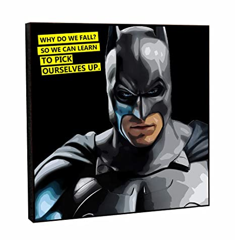 Happy Giftmart Batman Motivational Inpirational Quote Why Do We Fall