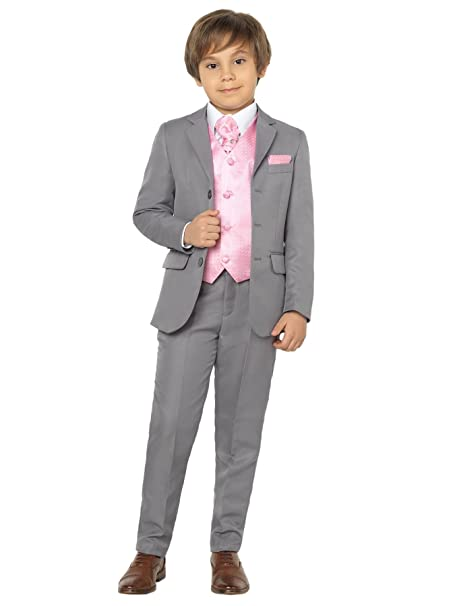 Prom Suits Boys Wedding Suit Page Boy Suits Boys Black Suit Purple Waistcoat