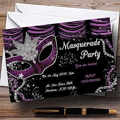 Amazon Com Masquerade Purple Personalized Birthday Party