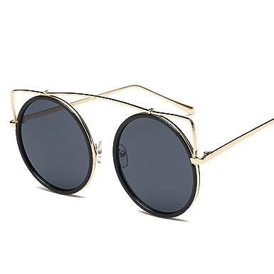 Amazon.com: Gafas de sol femeninas retro redondo gafas de ...