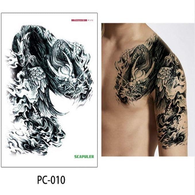 5 piezas tatuaje grande pecho brazo brazo hombro tatuaje grande ...