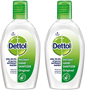 Amazon Com Dettol Hand Sanitizer Pack Of 2 50ml Each Health