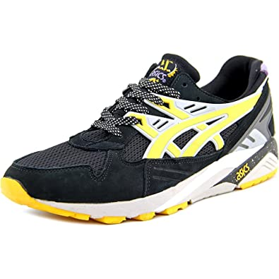 23adba2152e6 ASICS Mens Gel-Kayano Trainer Black Yellow H43hk-9005 (10.5