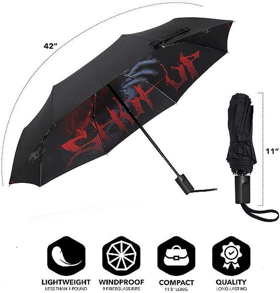 Portrait Collection Windproof Travel Umbrella Manual Tri-fold Umbrella